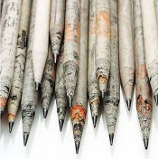 newspaper-pencils