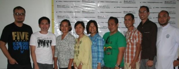 Glenn Mas, Norman Darap, Mrs. Jazmin Josue, Gen Asenjo, Ma. Felicia Flores, Stephen Checa, Ramil Martinez, Gil Montinola, Fr. Martin Laurio.