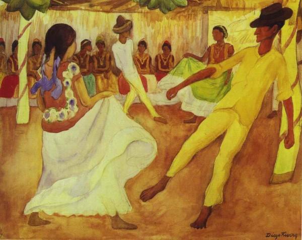 'Baile en Tehauntepec' (1935) ni Diego Rivera /http://www.diegorivera.org