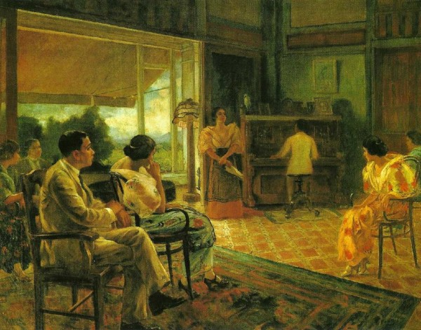 """El Kundiman"" (CA 1930) ni Fabian de la Rosa /Pearl of the Orient: Discover Old Philippines / https://www.facebook.com/DiscoverOldPhilippines"