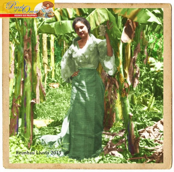 'The Mestiza in the Banana Groove' circa 1900 /Pearl of the Orient: Discover Old Philippines/ https://www.DiscoverOldPhilippines
