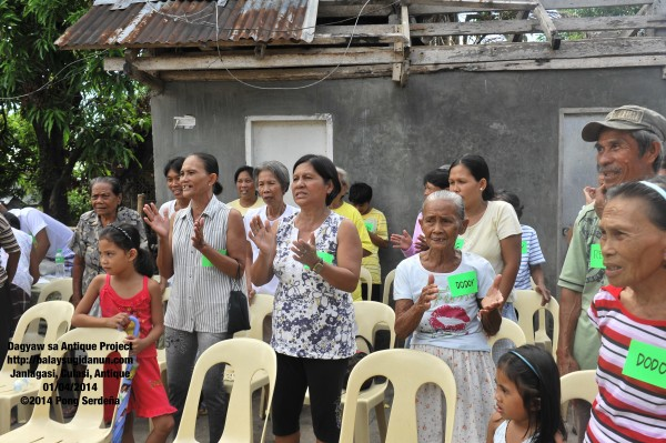 Community-singing opened our engagement.