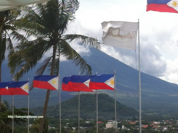 Mayon Volcano from the Oriental Hotel in Legazpi, Albay