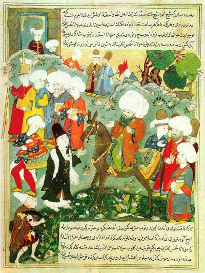 Meeting of Jalal al-Din Rumi and Molla Shams al-din http://en.wikipedia.orgwiki/Rumi /