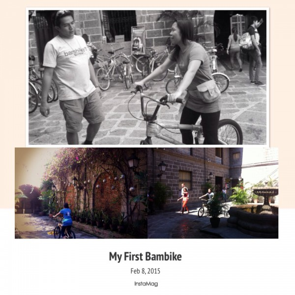 Tried out a Japanese bamboo bike at Bambike Tours in Plaza San Luis, Intramuros.