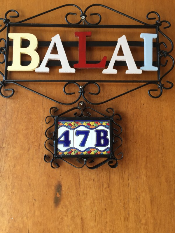 The door of Balai welcomed us.