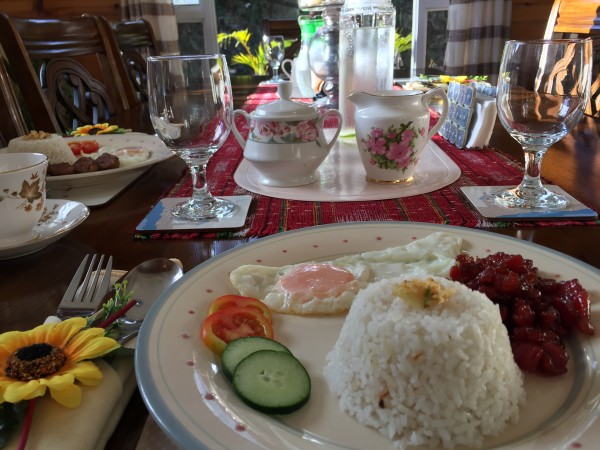 A Filipino breakfast at Balai.