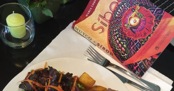 A good book and a fine meal.
